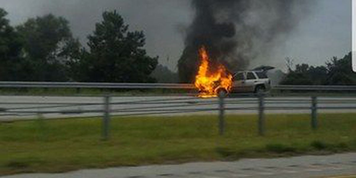TRAFFIC ALERT: Car fire closes lanes in both directions on Hwy. 31 in North Myrtle Beach