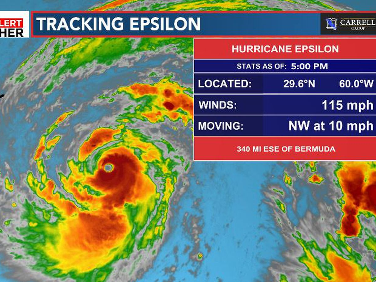 FIRST ALERT: Epsilon now a Category 3 hurricane