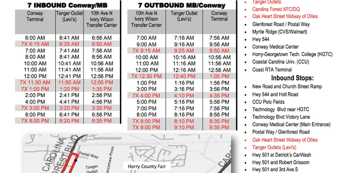 Coast RTA offering additional bus trips to the Horry County Fair