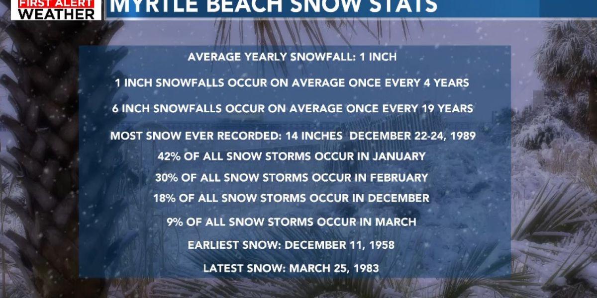 Cold, rain, chance of snow freezes beachgoers' plans along the Grand Strand