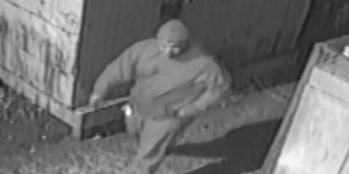 Suspect wanted after damaging property, breaking into restaurant