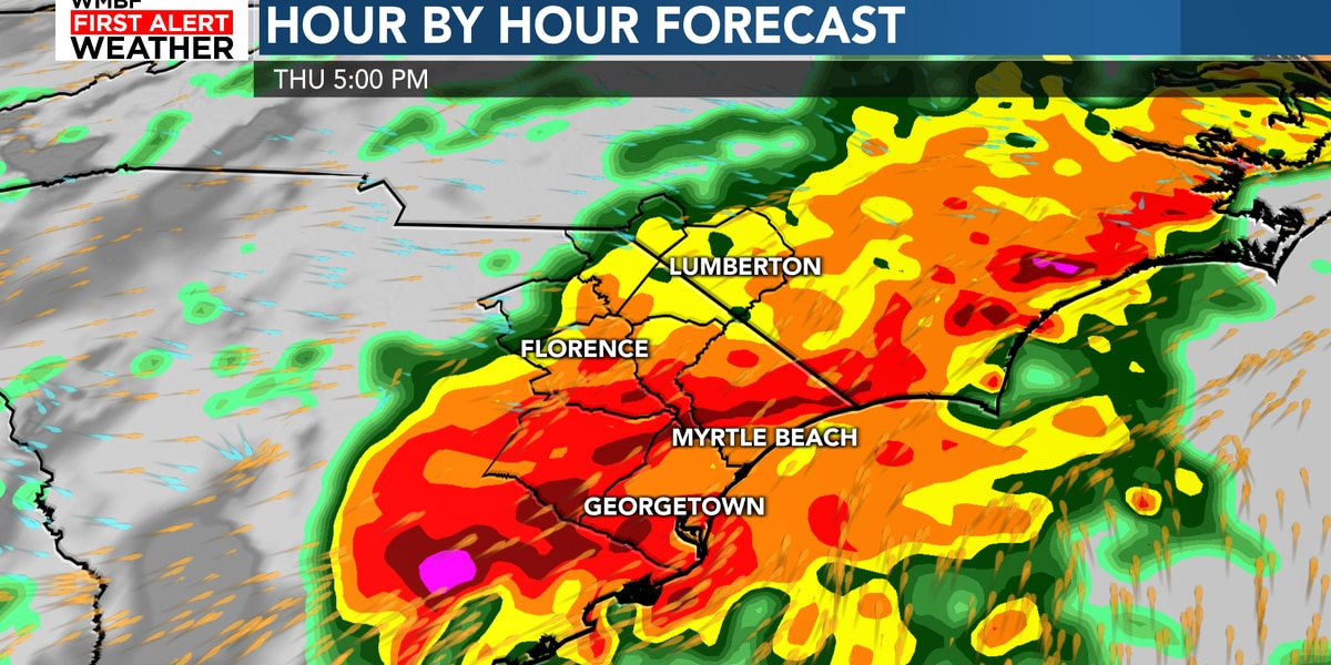 FIRST ALERT: Localized flooding possible as heavy rain continues
