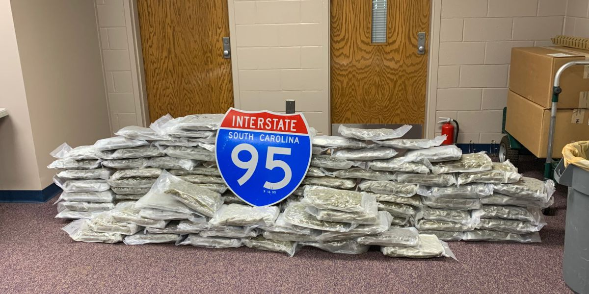 Over 100 pounds of marijuana found in luggage area of bus in Florence County