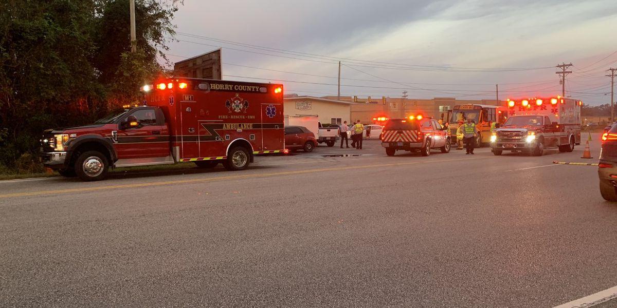 Five students injured in school bus crash on S.C. 544