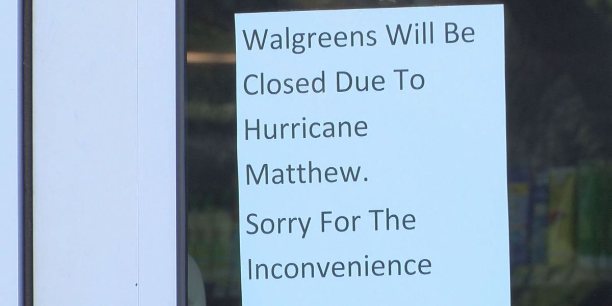 Locals upset over pharmacy closures ahead of Hurricane Matthew