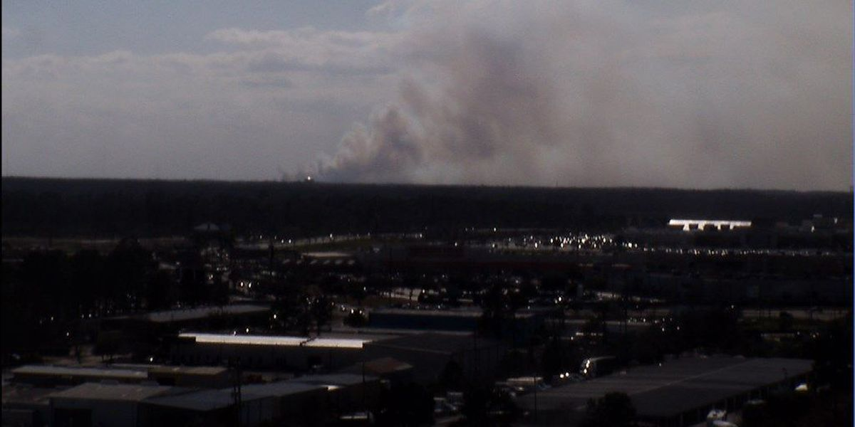 Prescribed burn taking place in Georgetown County