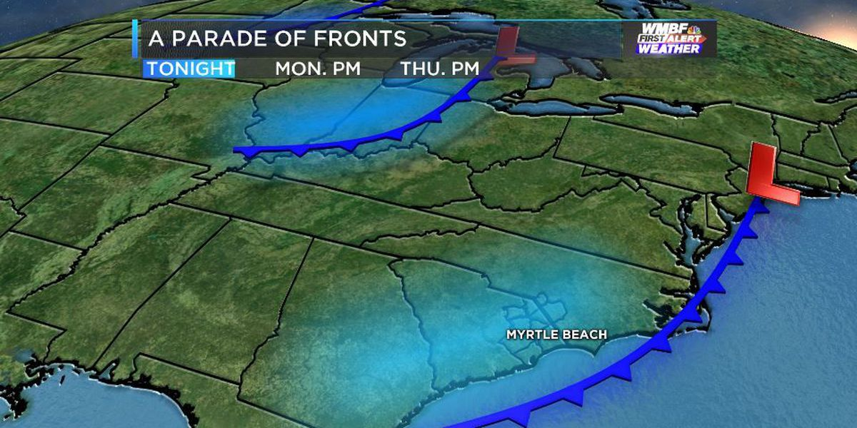 A string of cold fronts may bring a late season frost and freeze to the area this week