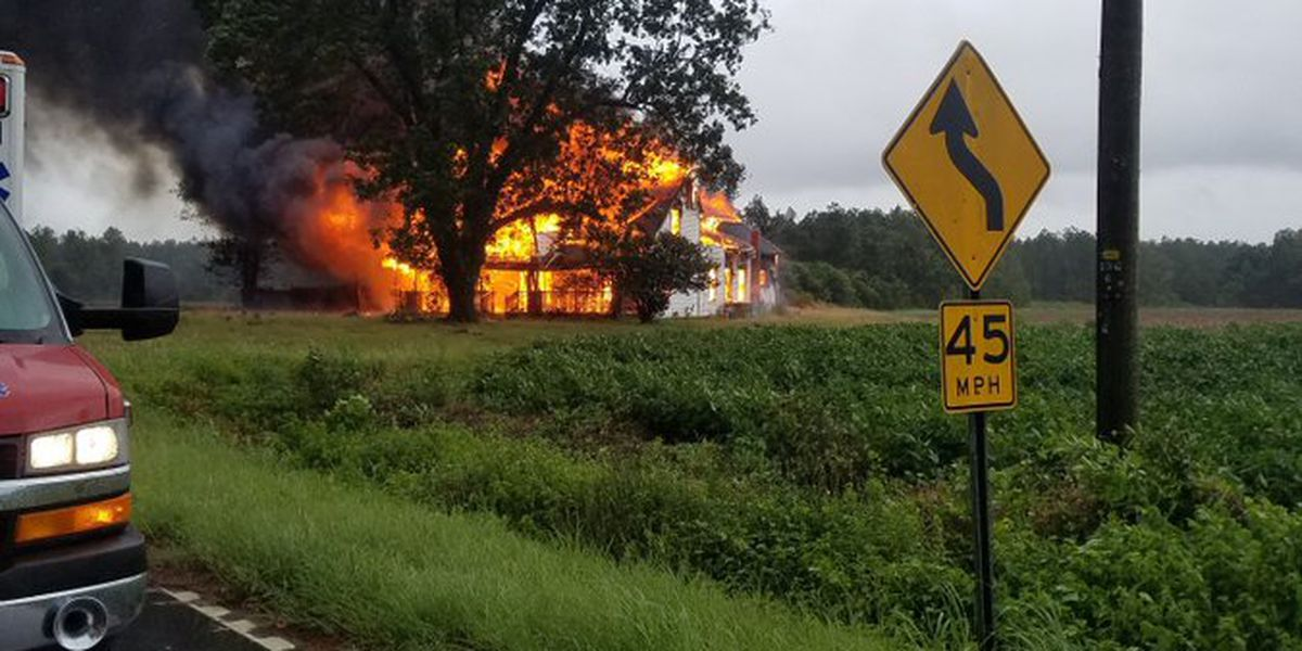 Horry firefighters battle fire that engulfs home in Nichols area