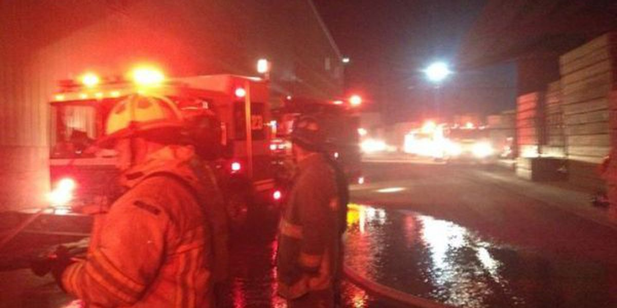 Fire crews respond to sawdust hopper fire at Conway lumber company