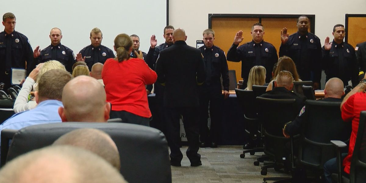 Horry County Fire Rescue holds badge-pinning ceremony for graduating recruits