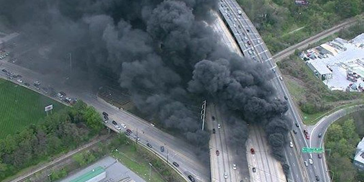 Portion of Interstate 85 in Atlanta collapses after fire breaks out underneath