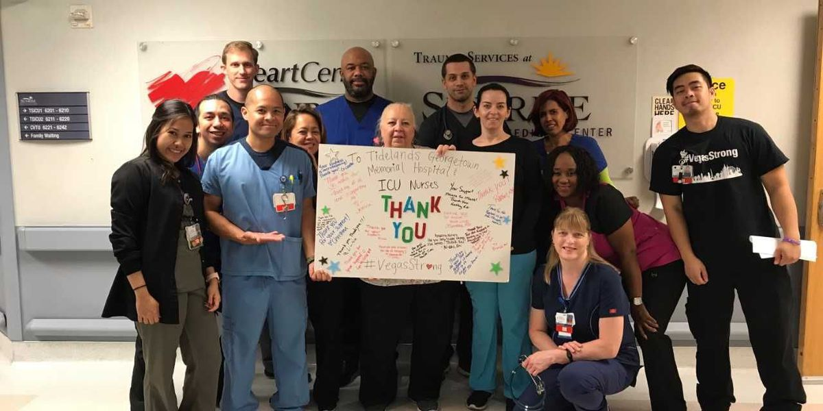 Georgetown hospital nurses send hot meal to Las Vegas nurses 2,300 miles away