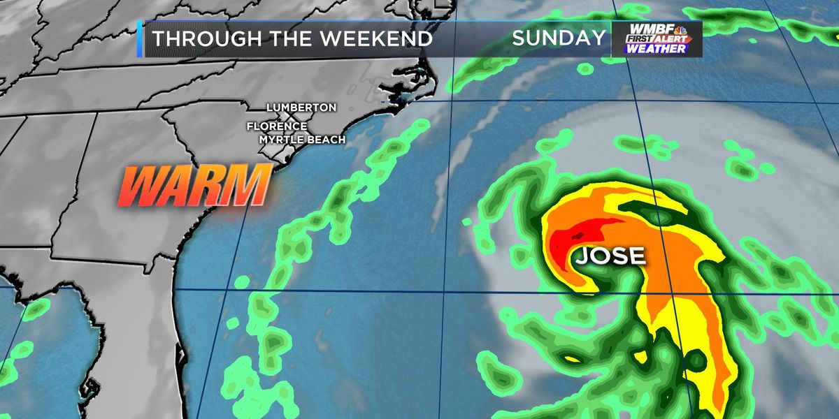 FIRST ALERT: Summer-like weekend as Jose passes by