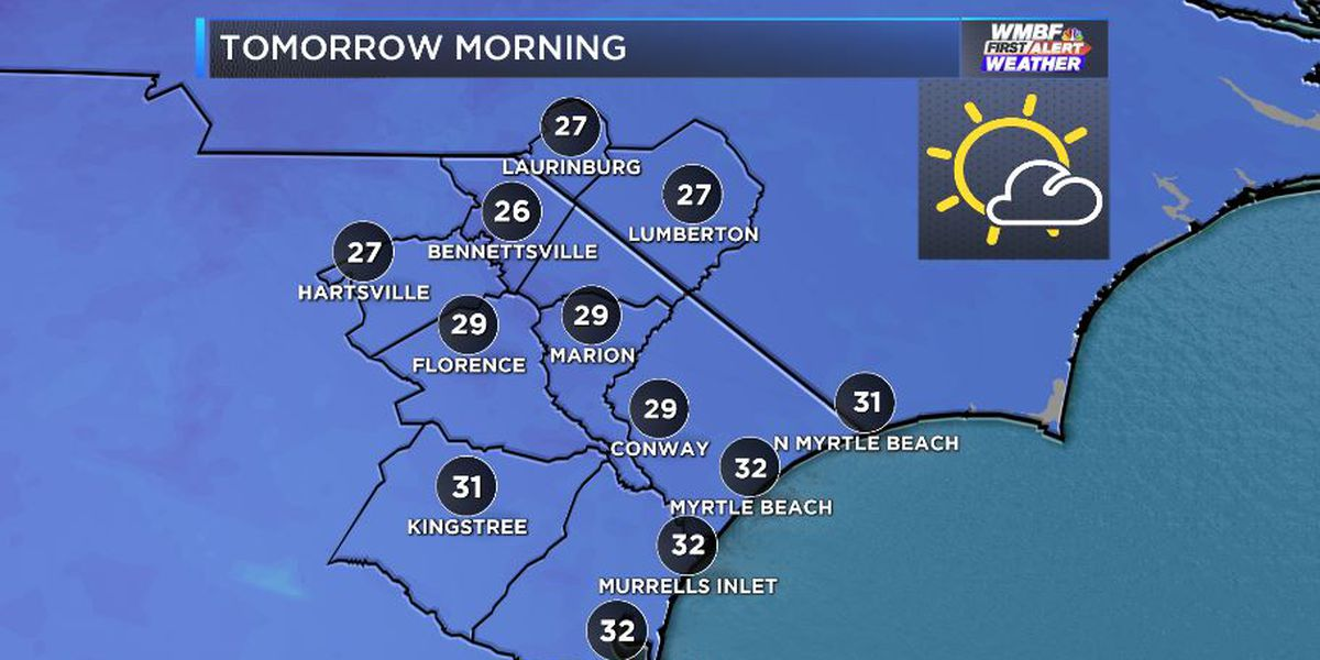 FIRST ALERT: Breezy and bright today, freeze warning tonight