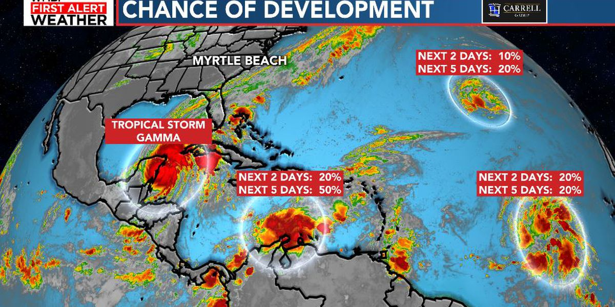 FIRST ALERT: Gamma a bit stronger, watching three other areas of development