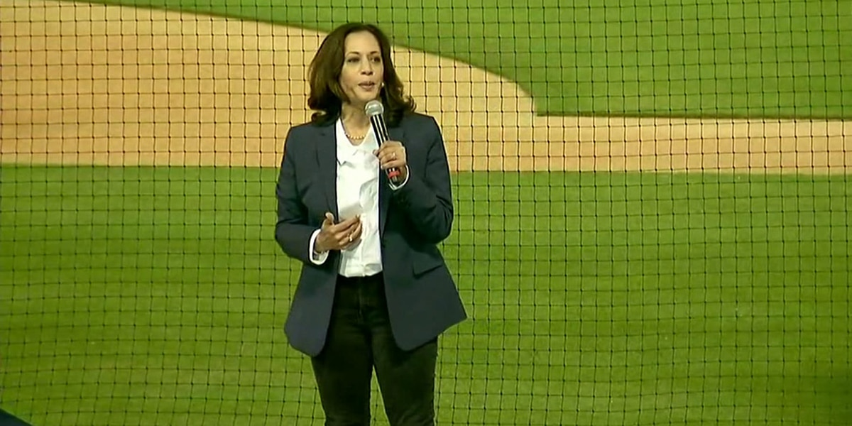 Sen. Kamala Harris speaks in Charlotte, encouraging early voting