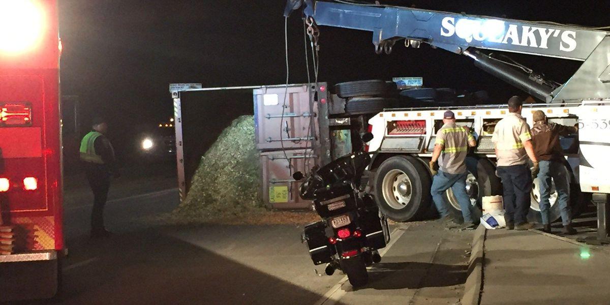 TRAFFIC ALERT: Eighteen-wheeler overturns on Robert Edge Parkway in NMB