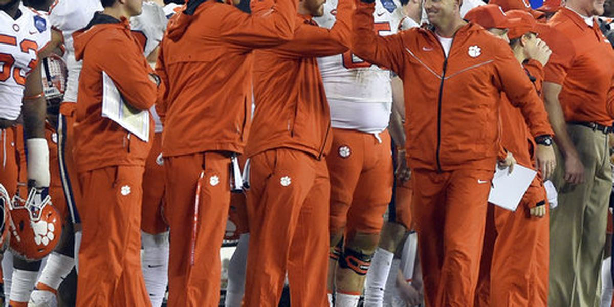 Clemson named No. 2 team in College Football Playoff