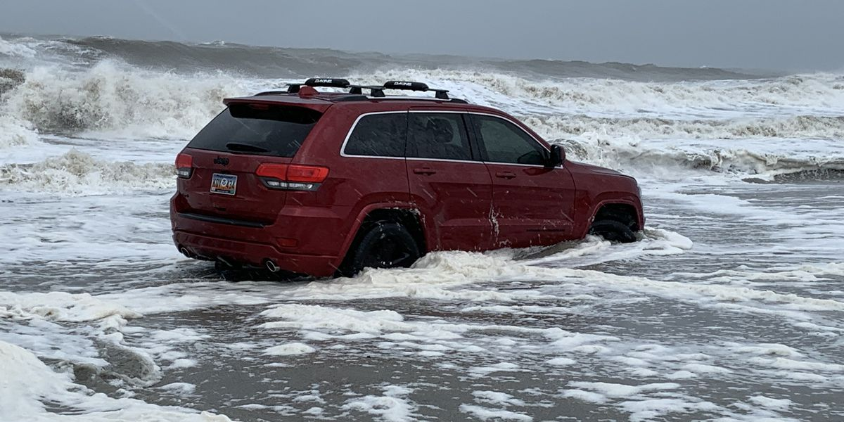 JEEP WATCH: Owner explains why Jeep was left on beach during Hurricane Dorian