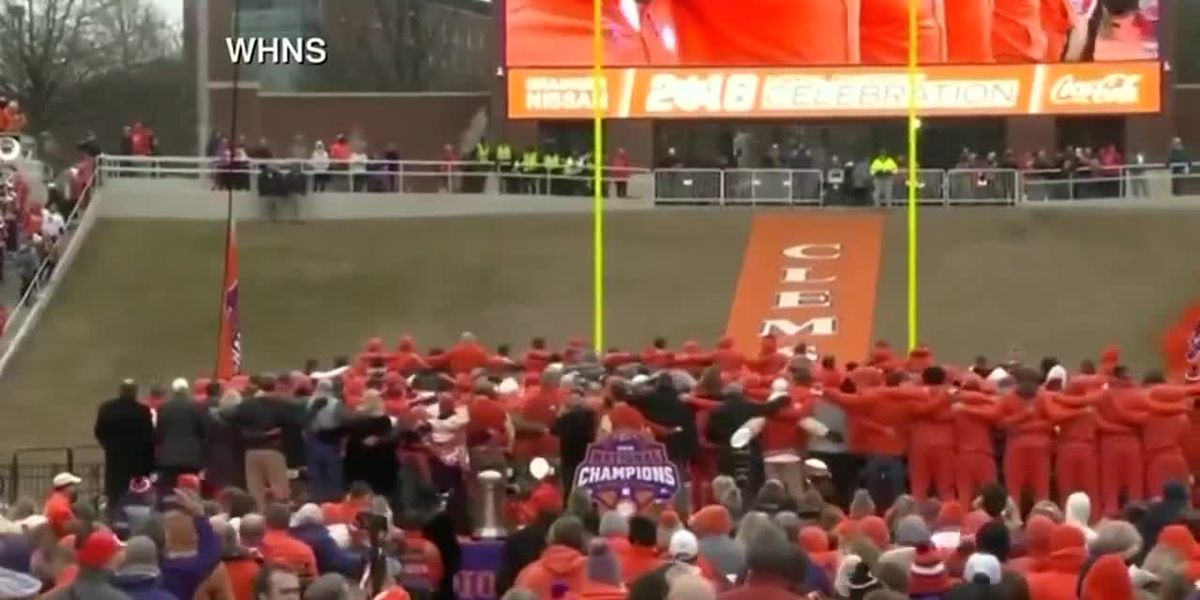 ICYMI: Dabo tells Clemson crowd national champs are 'the best ever, drop the mic'
