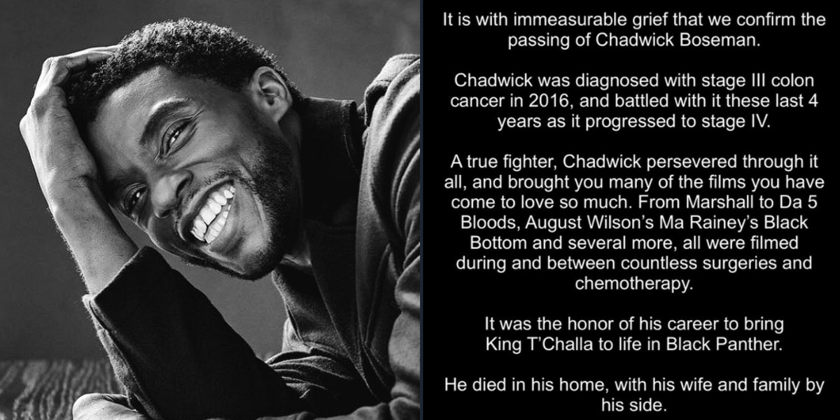 Gov. McMaster orders flags to be lowered to half-staff for actor Chadwick Boseman