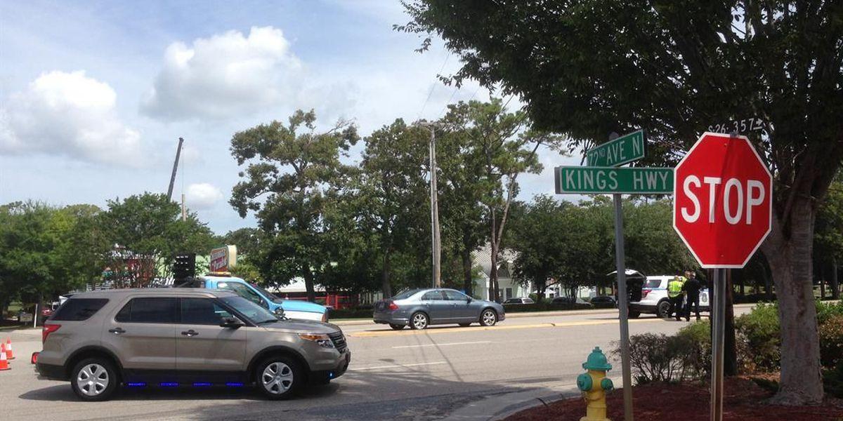 TRAFFIC ALERT: Moped crash delays traffic on Kings Highway