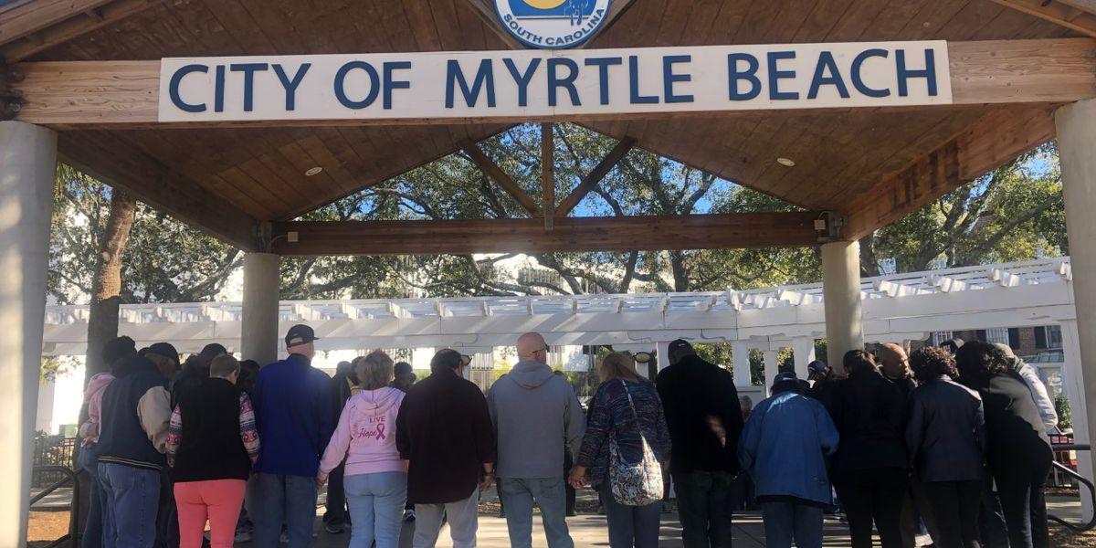 Myrtle Beach leaders, residents kick off 2020 with 'Faith Walk'