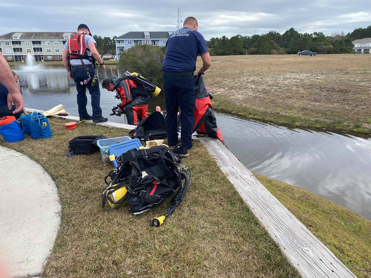 One taken to hospital after crews respond to possible drowning in Conway