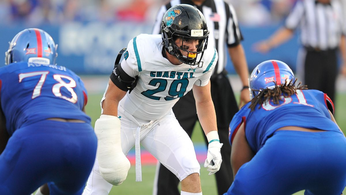 """It nearly brought tears to my eyes"": CCU linebacker Silas Kelly describes recovery from ACL injury"
