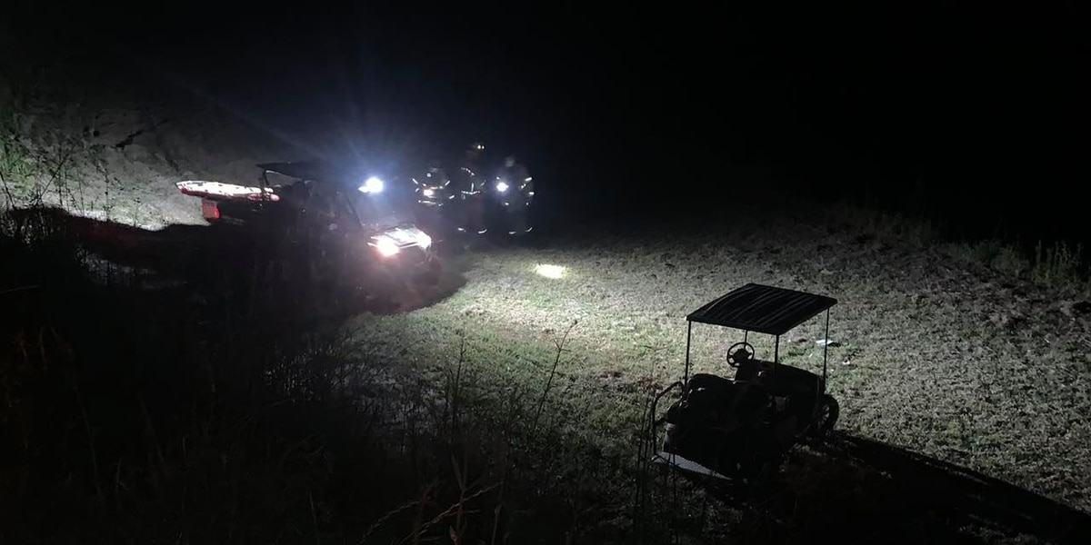 Injuries reported after golf cart crashes into ditch in Myrtle Beach