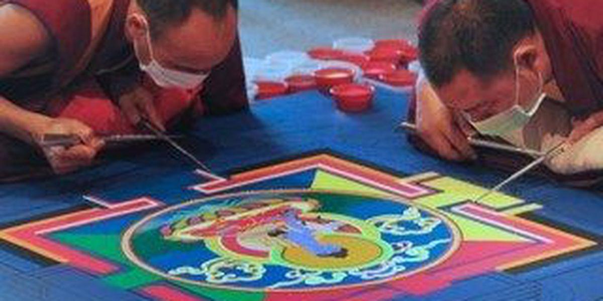 Monks visit Myrtle Beach to create sand mandala
