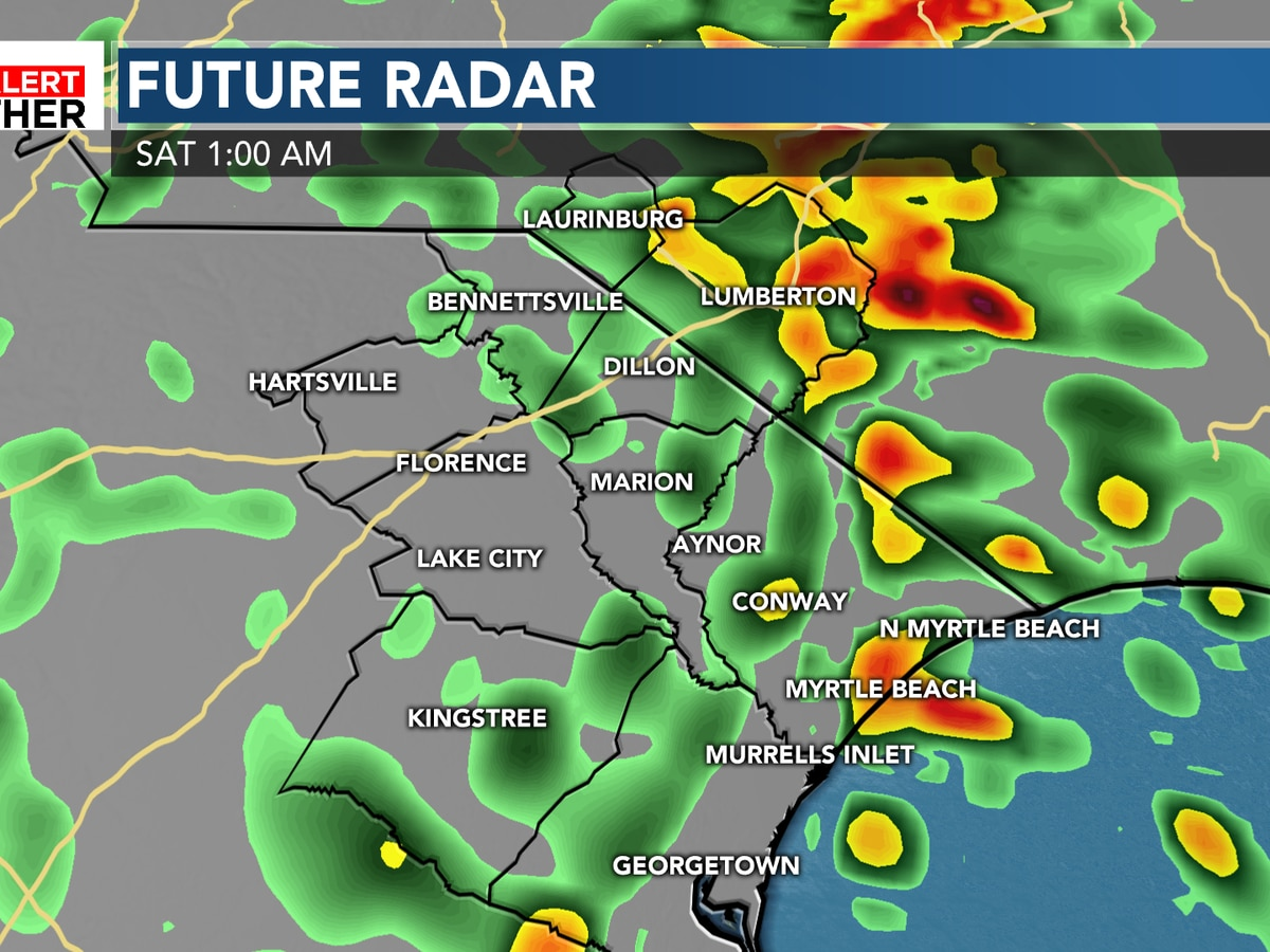 FIRST ALERT: Showers and storms likely overnight, gusty winds possible