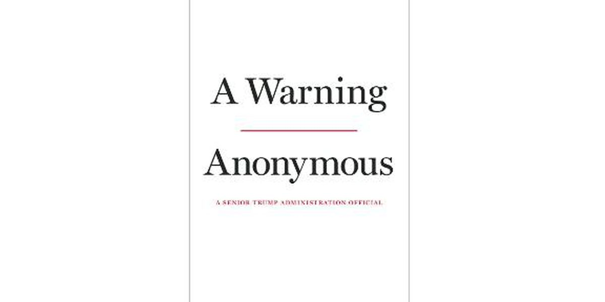 Anonymous anti-Trump op-ed writer has a book coming out