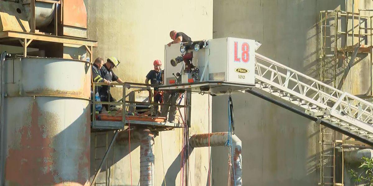 Crews work against heat, clock to rescue man from silo in Orangeburg