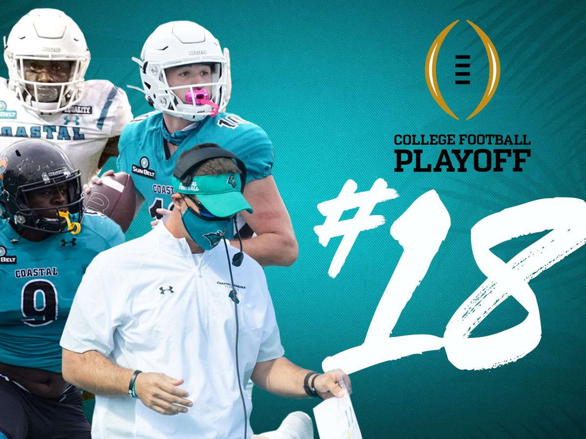 Coastal Carolina ranked No. 18 in latest College Football Playoff Poll