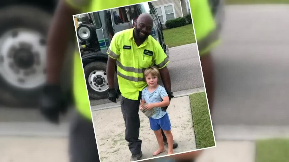 This is Carolina: 'I love him to death': Trash collector befriends 4-year-old along route