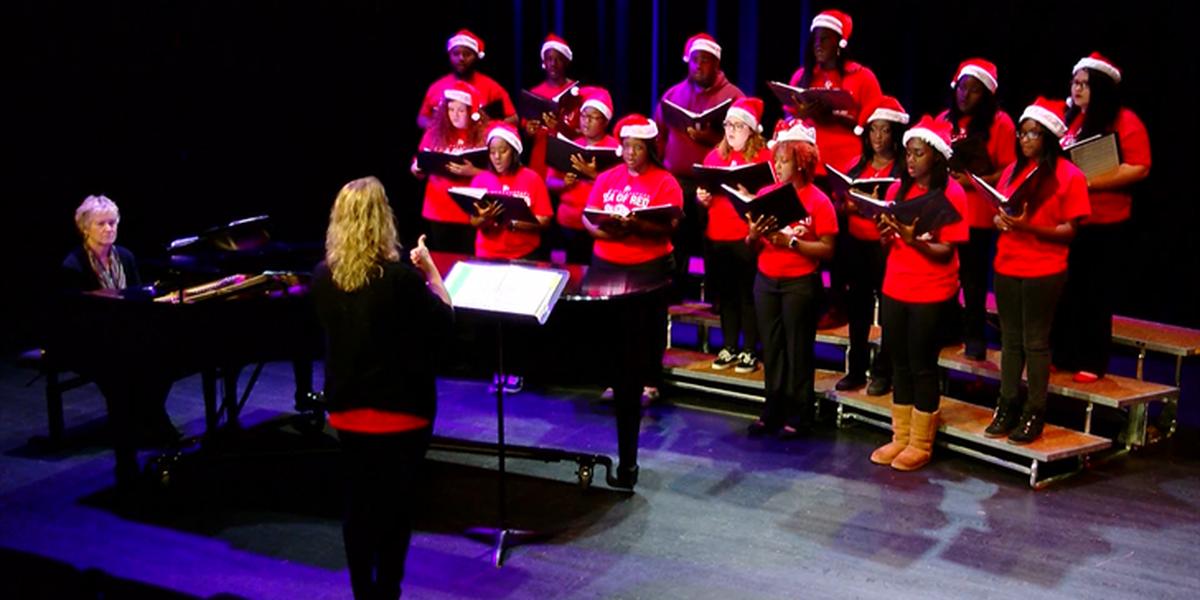 Francis Marion University University Choir performs Christmas songs