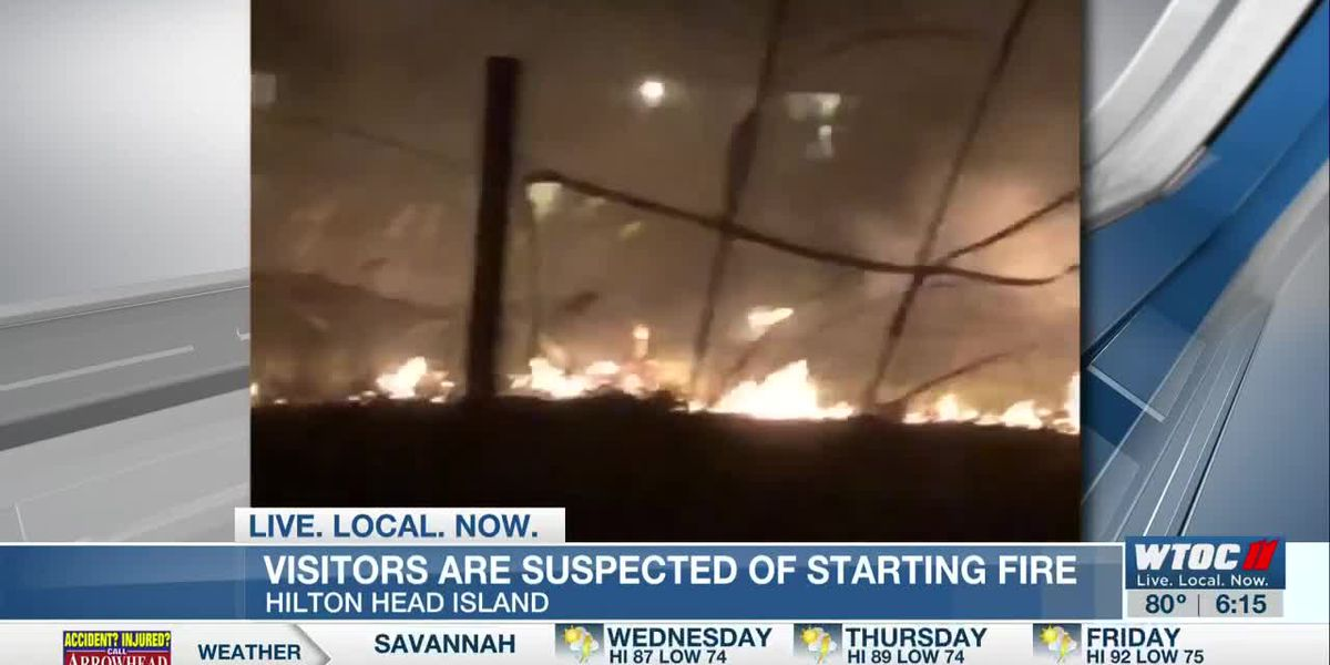 Visitors suspected of starting HHI dune fire with fireworks