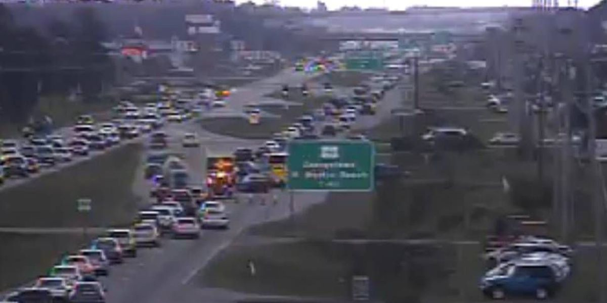 Accident blocks all southbound lanes of Hwy 501 at Carolina Forest