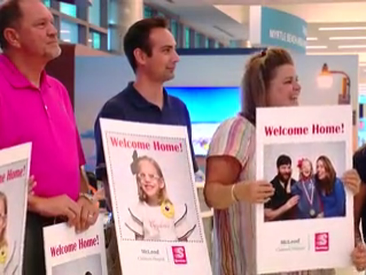 McLeod Health's 6-year-old ambassador receives big welcome home celebration
