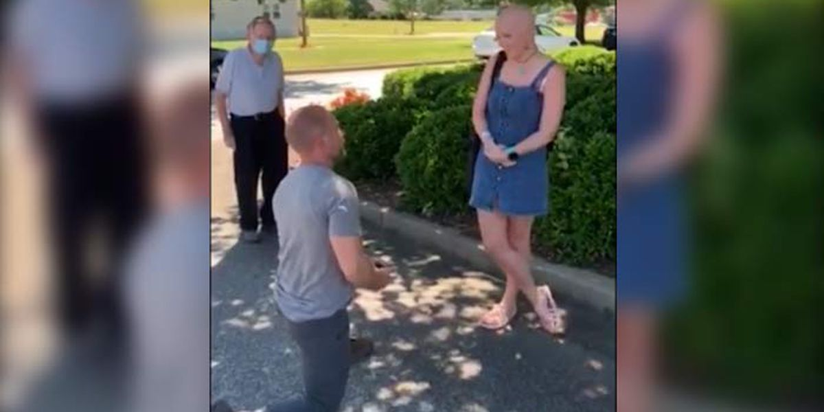 S.C. man surprises girlfriend after cancer milestone with question of a lifetime