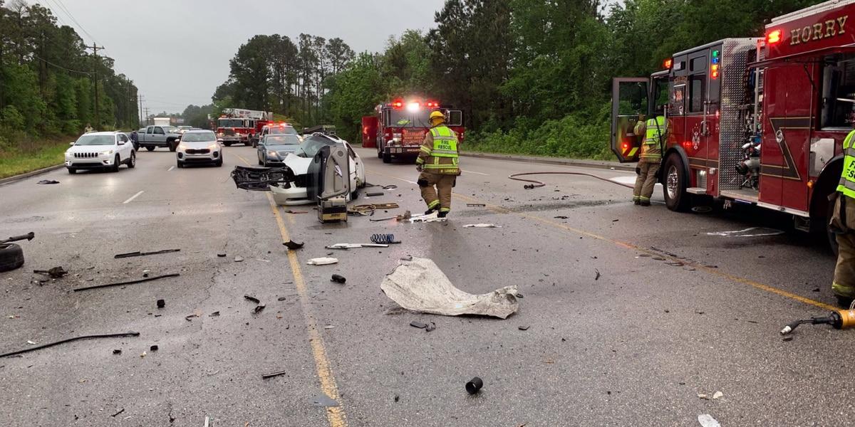 HCFR: Serious crash on SC 544 sends 4 to hospital