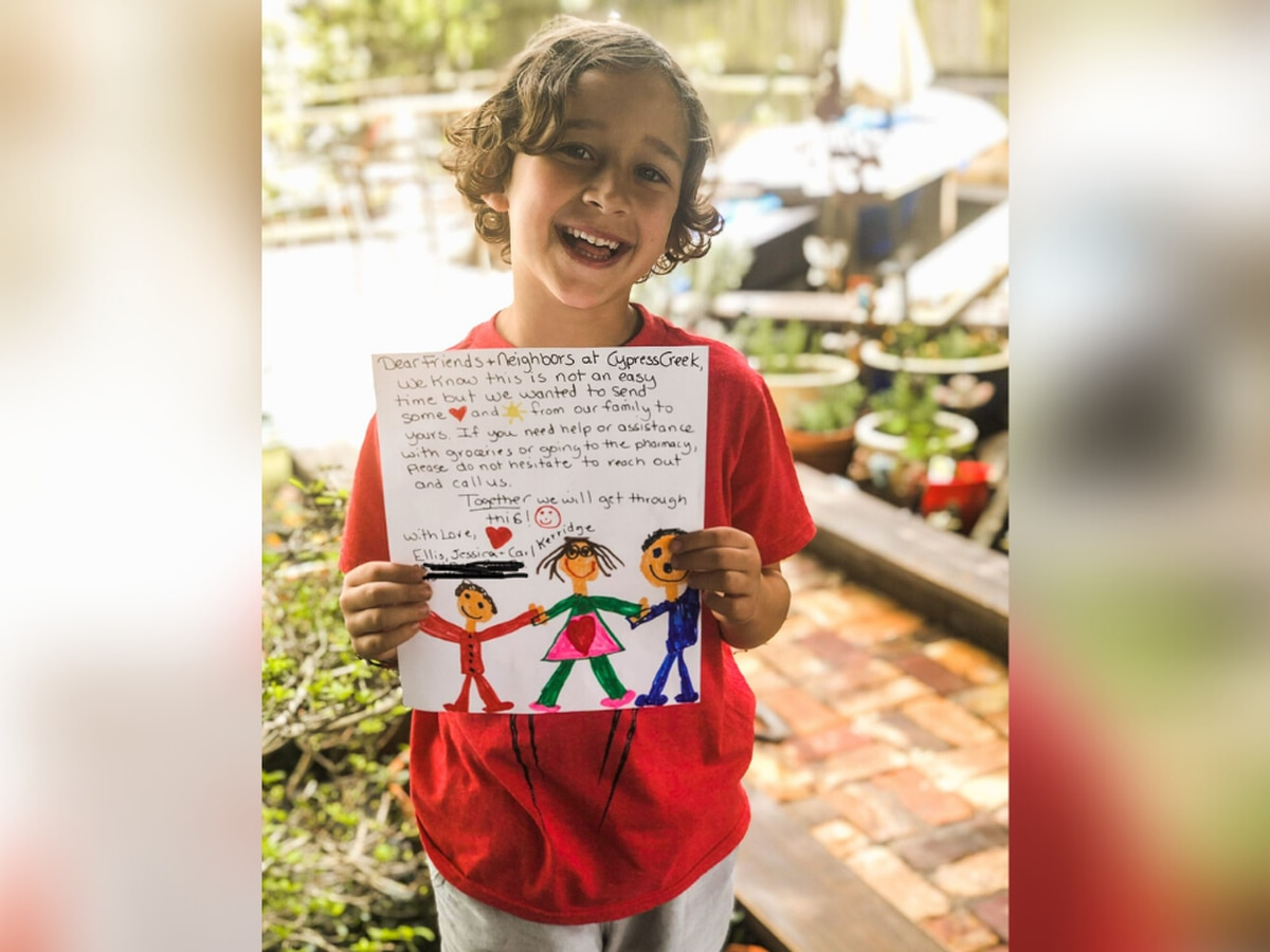 This is Carolina: Kindergartner decides to be a 'helper' during these uncertain times