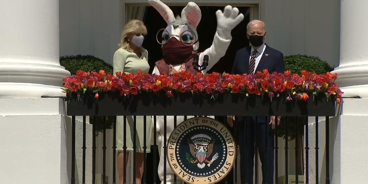 Biden speaks on Easter tradition in lieu of canceled egg roll