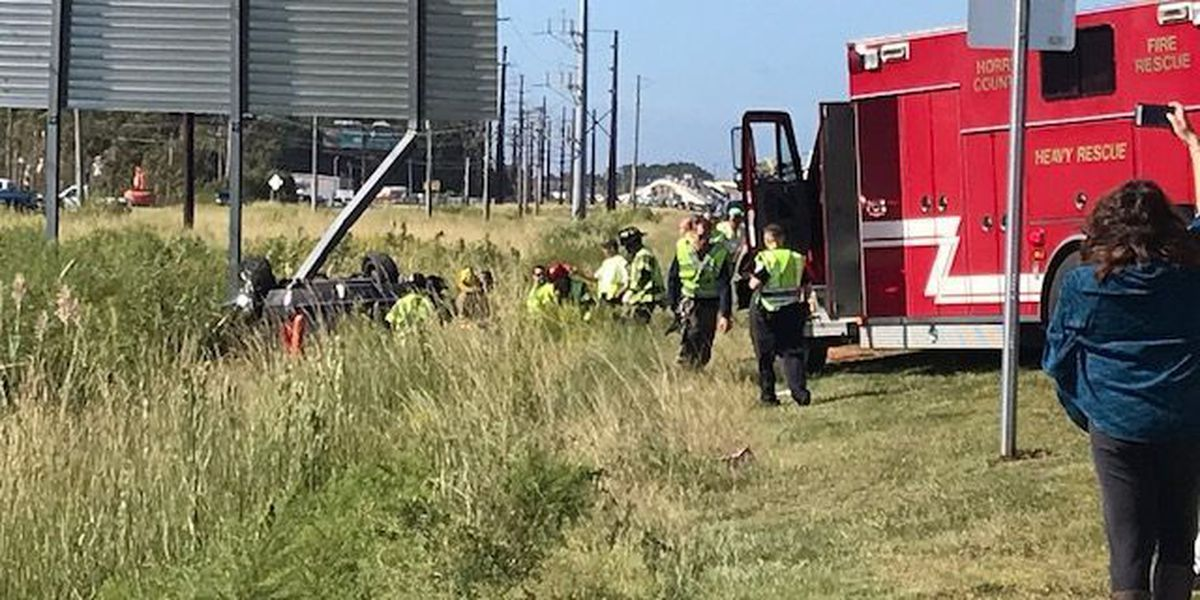 US-17 Bypass reopened at Farrow Parkway after rollover accident