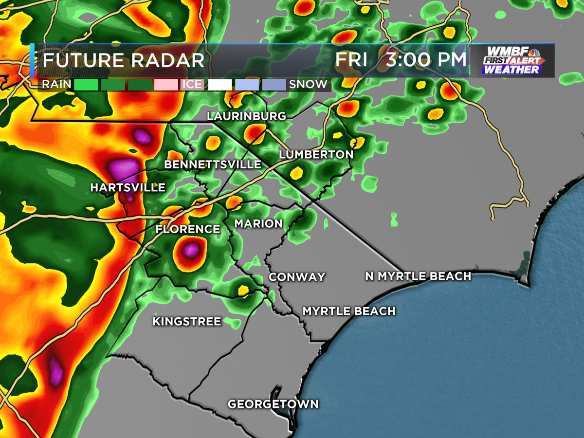 FIRST ALERT: Severe storm risk Friday, updated timing for your location