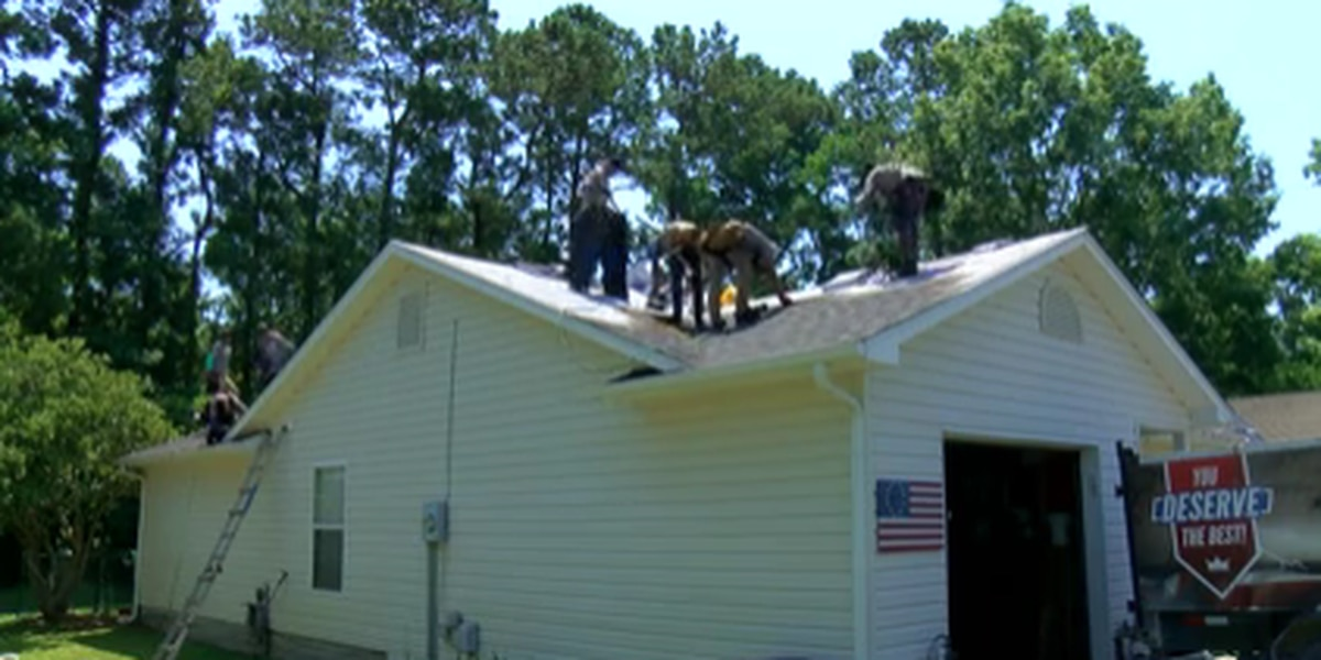 'It's great to give back to him:' Myrtle Beach veteran receives new roof