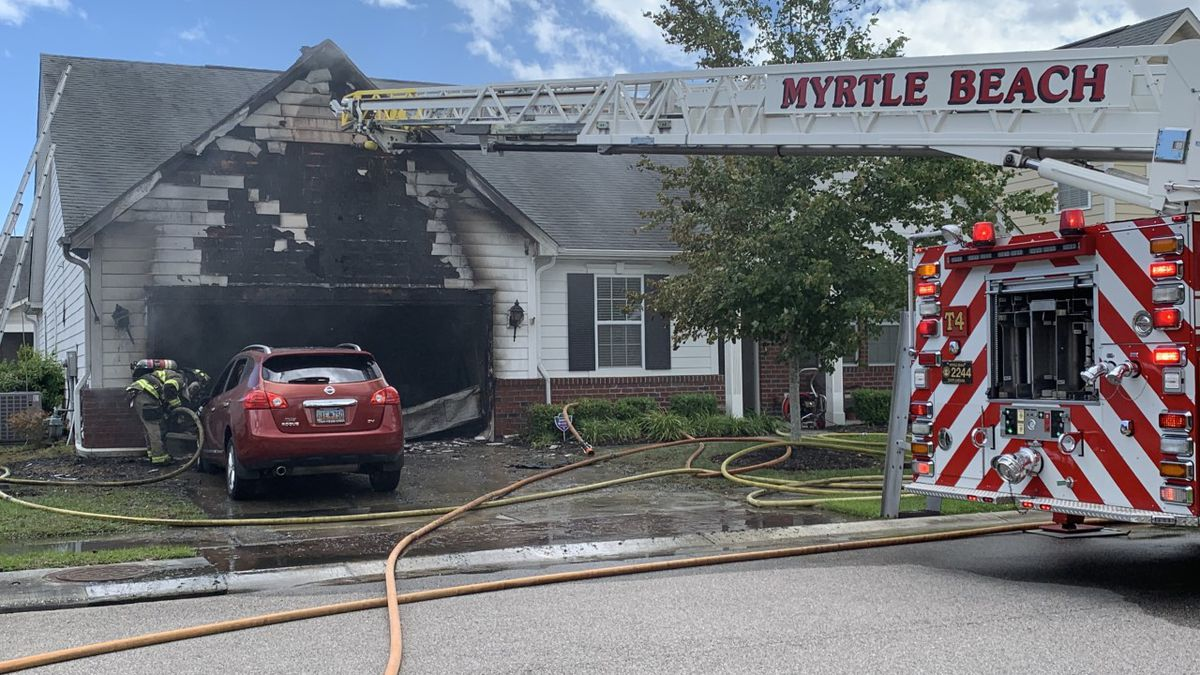 Crews battle house fire near Market Common