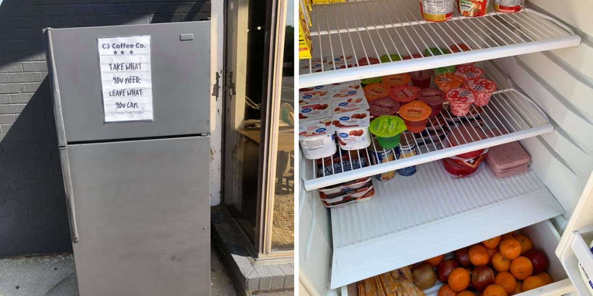 'Take what you need': Community fridge project adds new location in Conway for those in need