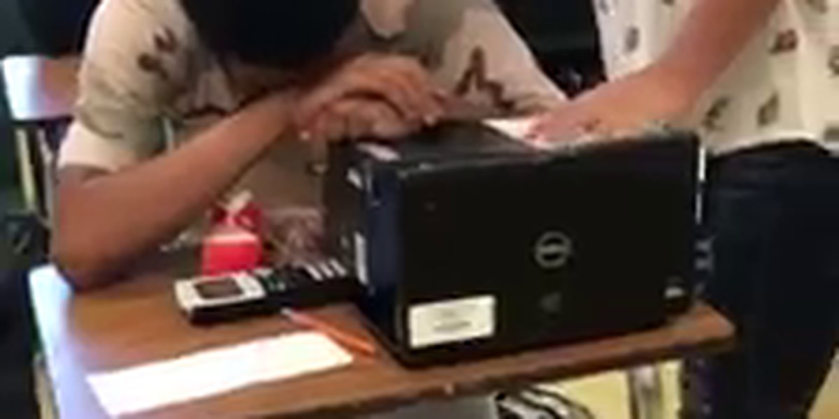 WATCH: Teen's gift of new shoes brings classmate to tears